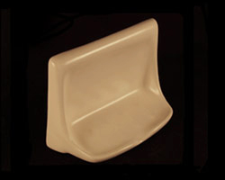 Ceramic Soap Dish Flatback 4x6in H46FB by HCP Industries
