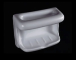 HCP Ceramic Soap and Washcloth Dish 4x6in H46W