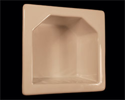 H55R Recessed Mini Hotel Soap Dish 5 x 5 Inch 3 x 3 Opening by HCP Industries