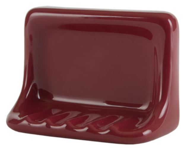 H46FB Flatback Ceramic Soap Dish for Tile Showers and Baths 4 x 6 by HCP Industries