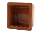 H66R Ceramic Recessed Soap Dish for Tile Showers and Baths 6 x 6