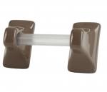 TB24FB Flatback Ceramic Tile Towel Bar Holder with 24 Inch Bar