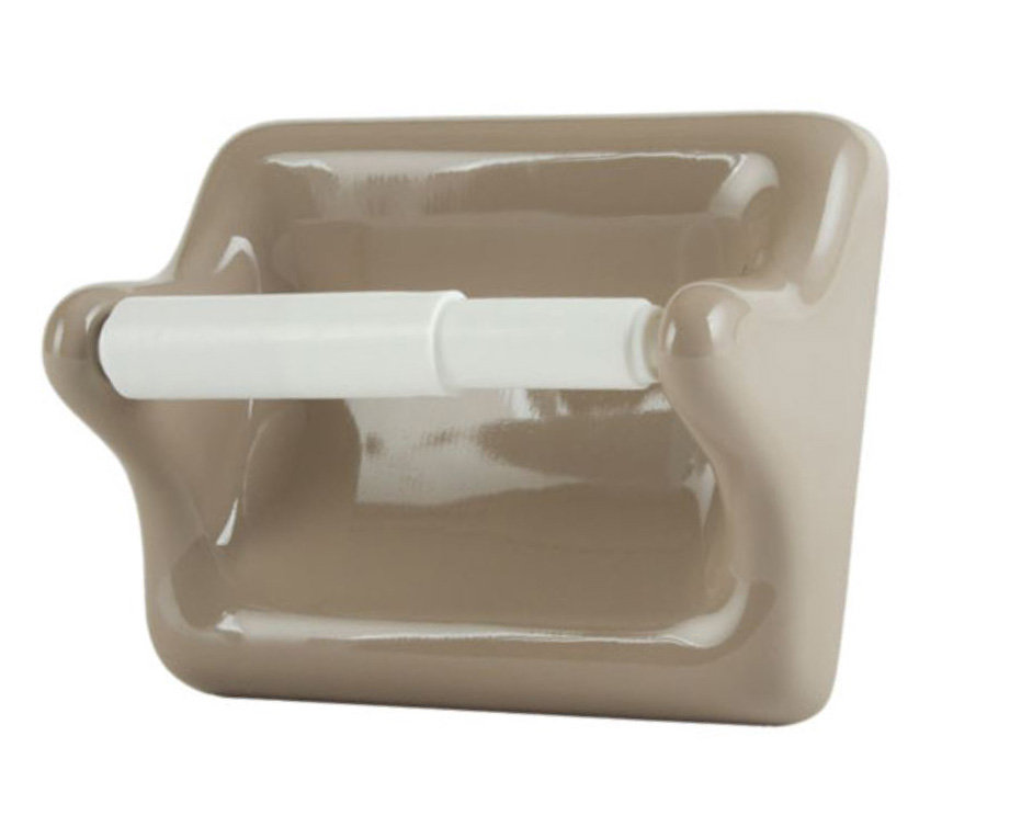 TT46FB Flatback Ceramic Toilet Tissue Holder 5 x 6 Nominal by HCP Industries