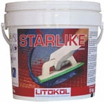 Starlike 5 5 lb Solid Epoxy Grout Classic Colors Plus Shimmer Additive