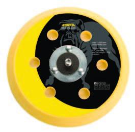 106GV 6 Inch 6 Hole 5 16x24 Spindle Hook n Loop Backup Pad by Mirka Abrasives