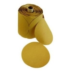 Mirka Gold 6 Inch No Hole PSA LinkRoll 80 - 400 Grit Sanding Discs