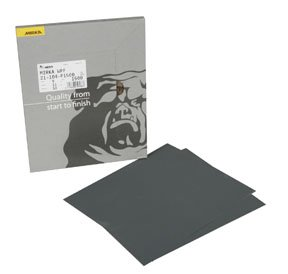 9 x 11 Waterproof Finishing Sheets 180-2500 Grit Box of 50 by Mirka Abrasives
