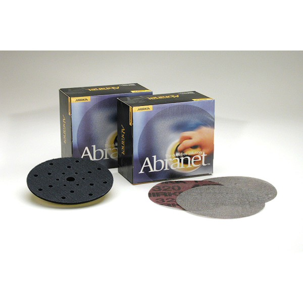 Abranet 6 Inch Mesh Grip 80-1000 Grit Sanding Discs by Mirka Abrasives