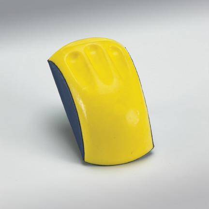 Ergonomic Hand Sanding Block for 6 Inch Discs by Norton Abrasives