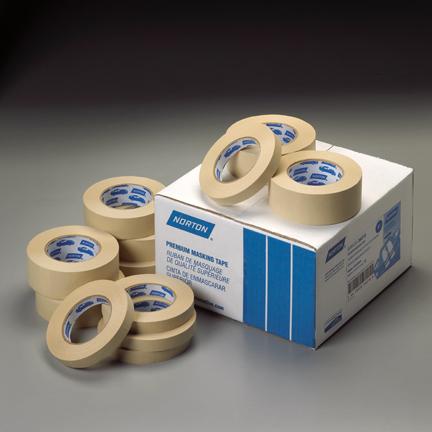 Tan Premium Masking Tape 55m Roll by Norton Abrasives