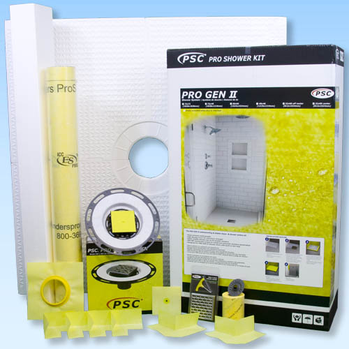 PSC Pro GEN II 72x72 Custom Tile Waterproofing Shower Kit - NO DRAIN by Pro-Source Center