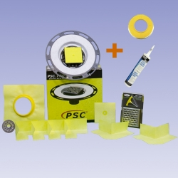PSC Pro GEN II Tiled Shower Flange with Clamping Flange Adapter Seal