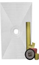 Pro PVC 32 x 60 Center Drain Shower Systems Tile kit by Pro-Source Center