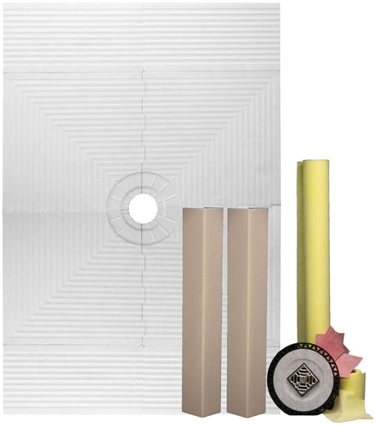 Pro 48 x 72 Shower Systems Waterproofing Kit for Tile Showers by Pro-Source Center