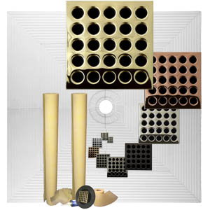 Pro Advanced 72 x 72 Custom Tiled Shower Kit in ABS or PVC by Pro-Source Center