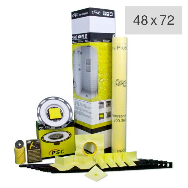 PSC Pro Gen II 48 x 72 Custom Tile Mud Shower Kit by Pro-Source Center