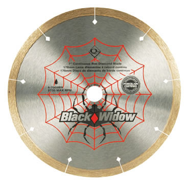 Black Widow Porcelain Diamond Blades by QEP