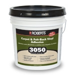 Roberts 3050 Primary Carpet and Felt Back Vinyl Adhesive 4 Gallons