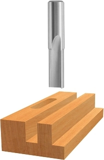 Bosch High-Speed Steel Double-Flute Straight Bits by Roberts