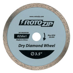 US540-01 Replaces RotoZip RZDIA1 Dry Diamond ZipWheel for Ceramic Tile by Roto Zip