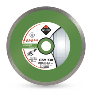 CSV Ceramic Tiles Diamond Blades - Dry Cutting by Rubi