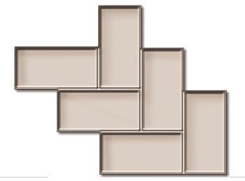 Diagonal Tile Texture Mat by Rubi