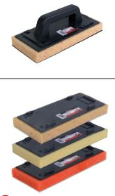 Rubber Foam Trowels with Changeable Sponges 11 8x5 3 Inch by Rubi