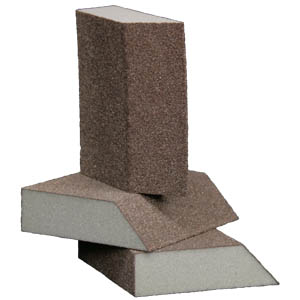 Foam Abrasive Single Angle 4 Sided Block 1 Inch Thick by Sia