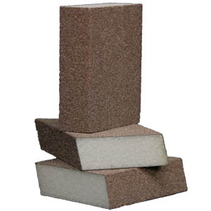 Foam Abrasive Dual Angle 4 Sided Block 1 Inch Thick by Sia