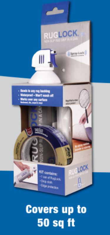 RugLock Non Slip Rug and Carpet Lock Grip in a Can by Spray-Lock Inc.
