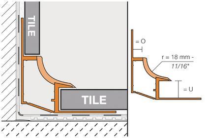 Schluter DILEX-HK PVC / CPE Cove-Shaped Corner Profiles