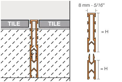 DILEX-MPV Extension Profiles for DILEX-MP by Schluter Systems