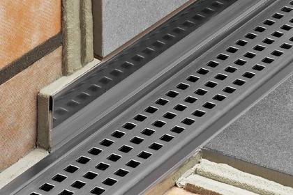 KERDI-LINE Linear Drain - Offset -  All Grates by Schluter Systems
