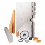 Schluter Systems 32 x 60 Inch Center Drain Kerdi Shower Kit - NO DRAIN