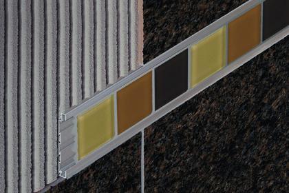 QUADEC-FS Decorative Double Rail Feature Strip Profiles by Schluter Systems
