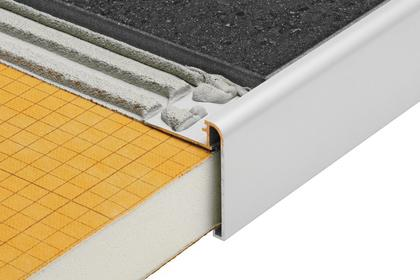 RONDEC STEP Anodized Aluminum Finishing and Edging Profiles by Schluter Systems