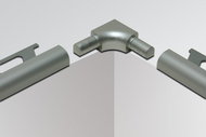 Sink Corner for Schluter RONDEC - Stainless Steel by Schluter Systems