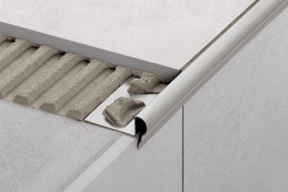 TREP-FL Decorative Stainless Steel Stair-Nosing Profiles by Schluter Systems