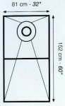 Schluter Systems Kerdi Shower Tray ST-81 152BR 32X60 Off Center Drain