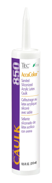 AccuColor Siliconized Acrylic Latex Caulk Sanded or Unsanded by Tec