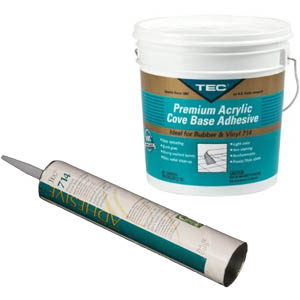 714 Premium Cove Base Adhesive Tube or Pail by Tec