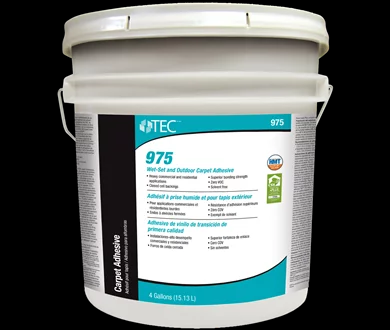 975 Solvent-Free Wet-Set and Outdoor Carpet Adhesive 1Gal  by Tec