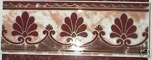 Paladio Ceramic Tile 5 x 13 Listello Platine Decorative Border by Recer