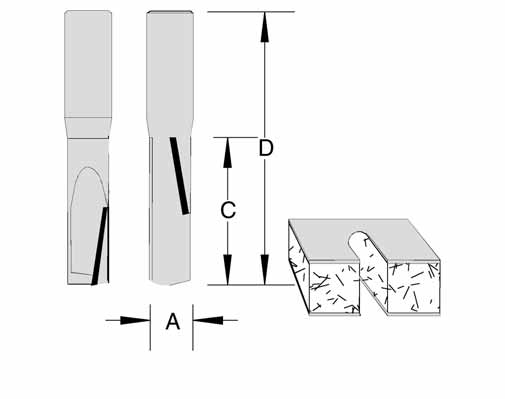 Up Down Compression Stagger Tooth Router Bits by Velepec