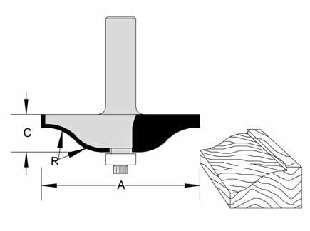 Ogee Fillet Raised Panel Bits by Velepec