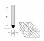 Velepec Solid Carbide V Grooving Veining Bit