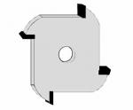 Velepec 4 Wing Slotting Cutter Assembly